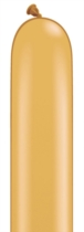 "260Q (2"" x 60"") Gold Latex Modelling Balloons 100pk"