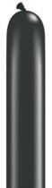 "260Q (2"" x 60"") Pearl Onyx Black Latex Modelling Balloons 100pk"