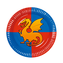 Knights & Dragons 23cm Paper Plates 6pk