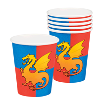 Knights & Dragons Paper Party Cups 6pk