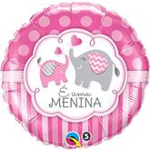 """E Uma Menina Elephants 18"""" Foil Balloon"""
