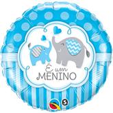 "E Um Menino Elephants 18"" Foil Balloon"