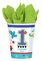 All Aboard 1st Birthday Boy Paper Cups 8pk