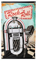 Rock and Roll Polyester Flag Banner 1.5M x 0.9M