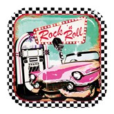 Rock and Roll 23cm Paper Plates 6pk