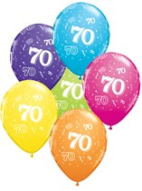 "Age 70 Latex 11"" Balloons 25pk"