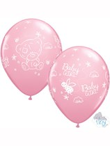 "Tiny Tatty Teddy Baby Girl 11"" Latex Balloons 25pk"