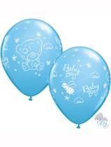 """Tiny Tatty Teddy Baby Boy 11"""" Latex Balloons 25pk"""