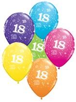 "Age 18 Latex 11"" Balloons 25pk"