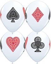 Casino Playing Card Suits Latex Balloons 25pk