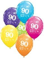 "Age 90 Latex 11"" Balloons 25pk"