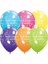 """Assorted Welcome Home 11"""" Latex Balloons 25pk"""