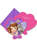 Sofia The First Pearl of the Sea Invitations & Envelopes 6pk
