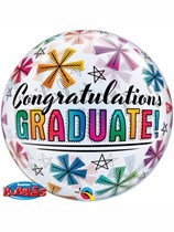 "Congratulations Graduate 22"" Bubble Balloon"