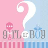 Girl or Boy? Baby Shower Napkins - 20pk