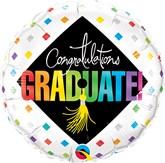 """Congratulations Graduate Cap 18"""" Foil Balloon"""