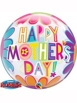 """22"""" Mother's Day Big Flowers Bubble Balloon"""