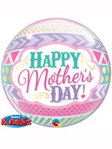 """22"""" Mother's Day Dots & Stripes Bubble Balloon"""
