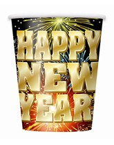 New Year Fireworks Paper Cups 8pk