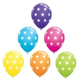 "Tropical Asst'd Stars 11"" Latex Balloons 25pk"