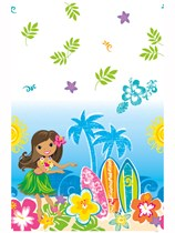 Hula Beach Plastic Tablecover