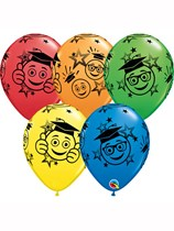 "Graduation Smiles 11"" Latex Balloons 25pk"