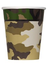 Military Camouflage Paper Cups 8pk