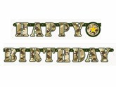 Military Camouflage Happy Birthday Jointed Banner
