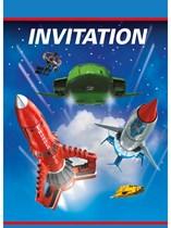 Thunderbirds Party Invitations & Envelopes 8pk