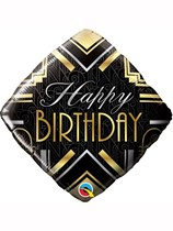 "Happy Birthday Gatsby Art Deco 18"" Foil Balloon"