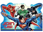 Justice League Invitations & Envelopes 8pk
