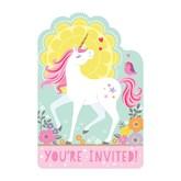 Magical Unicorn Postcard Invites 8pk