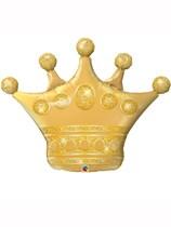 "Golden Crown 41"" Supershape Foil Balloon"