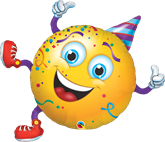 Party Guy Round Supershape Foil Balloon