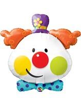 """Cute Clown 36"""" Supershape Foil Balloon"""