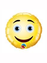 """Smiley Face 9"""" Air Fill Foil Balloon"""