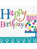 Confetti Cake Birthday Luncheon Napkins 16pk