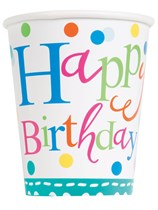 Confetti Cake Happy Birthday Cups 8pk