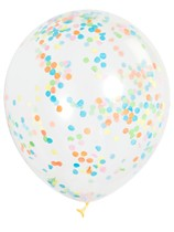 "12"" Multi Coloured Latex Confetti Balloons 6pk"