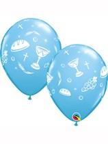 "Blue Communion Elements 11"" Latex Balloons 25pk"