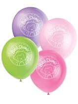 "Pink Baby Monkey Baby Shower 12"" Latex Balloons 8pk"