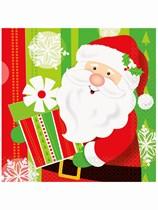 Happy Santa Christmas Luncheon Napkins 16pk
