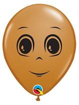 "Mocha Brown Masculine Face 5"" Latex 100pk"