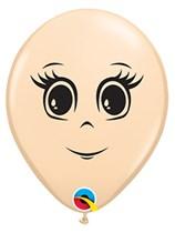 "Blush Feminine Face 5"" Latex Balloons 100pk"