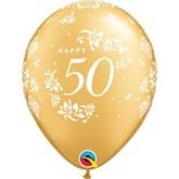 "50th Anniversary 11"" Gold Latex 6pk"