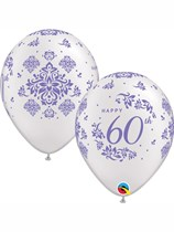"Diamond 60th Anniversary 11"" Latex Balloons 25pk"