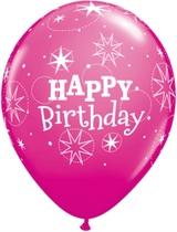 "Wild Berry Happy Birthday Latex 11"" Balloons 6pk"