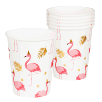 Flamingo Party Paper Cups 6pk