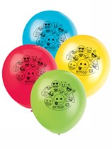 "Emoji Party 12"" Latex Balloons 8pk"