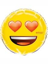 "Emoji Party Heart Eyes 18"" Foil Balloon"